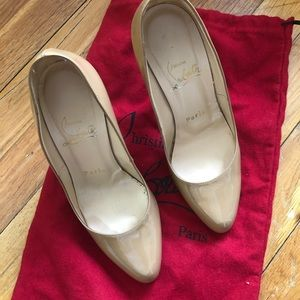 Authentic Christian Louboutin, size 35, Nude